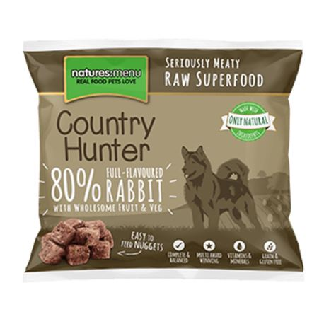 Country Hunter Raw Superfood Nuggets Full-Flavoured Rabbit 1kg 2