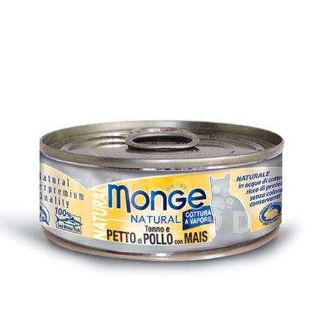 Monge Natural - Tonno e Pollo con Mais - 80g