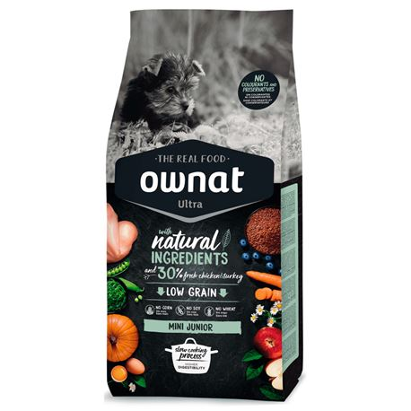 OWNAT Ultra Low Grain Junior Mini Chicken & Turckey - 3kg