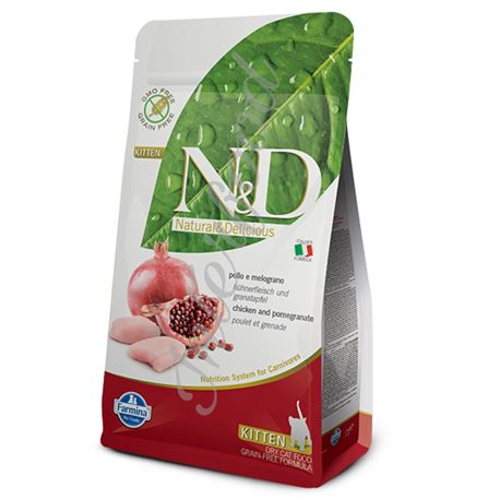 FARMINA N&D GRAIN FREE FELINE - CHICKEN & POMEGRANATE - Kitten - 10kg 1