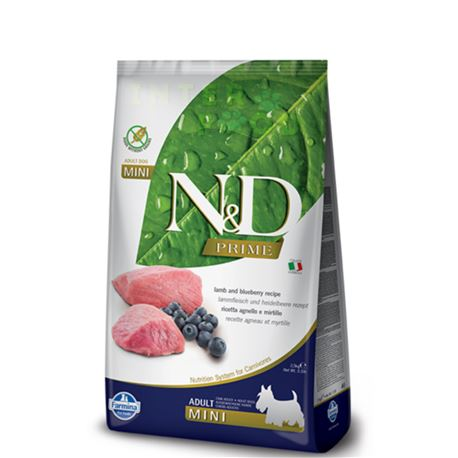 FARMINA N&D PRIME - LAMB & BLUEBERRY ADULT MINI - 7kg