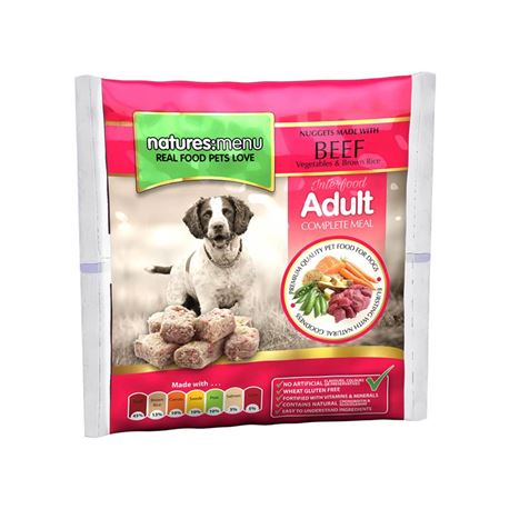 Natures:Menu Original Raw Nuggets Meals Beef - 1kg 2