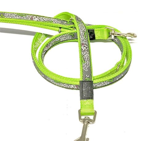 Rogz Lead Multipurpose Lime Bone L 1