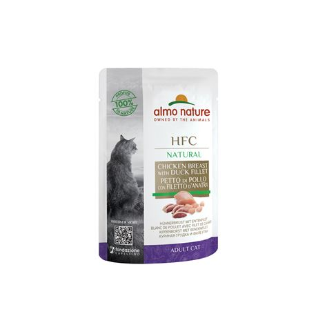 Almo Nature HFC Natural - Petto di Pollo e Filetto d'Anatra - 55g