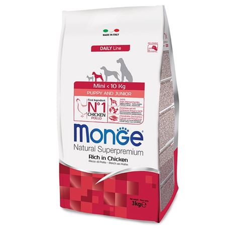 Monge DL Mini Puppy & Junior Pollo e Riso 3kg