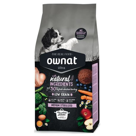 OWNAT Ultra Low Grain Sterilized - 14kg