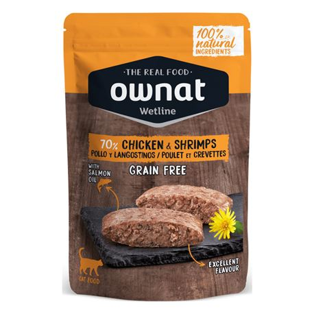 OWNAT WETLINE CHICKEN & SHRIMPS - 85gr