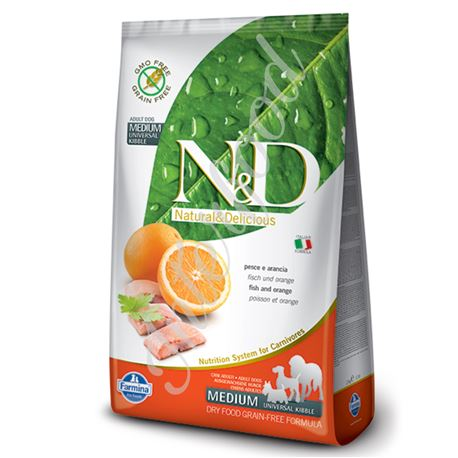 FARMINA N&D - FISH & ORANGE ADULT MEDIUM - 800gr 1