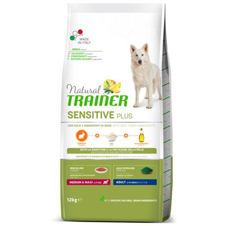 Natural TRAINER Sensitive Plus MediumMaxi Adult Coniglio - 12kg 1
