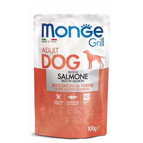 Monge - Grill - Bocconcini in Jelly Ricco in Salmone - 24 x 100g