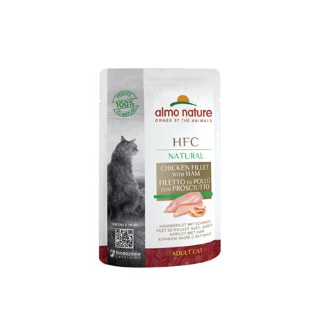 Almo Nature HFC Natural - Filetto di Pollo con Prosciutto - 55g