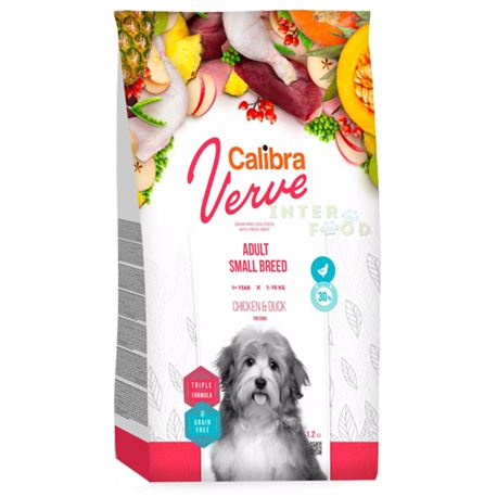 Calibra Dog Verve GF Adult Small Pollo e Anatra - 6kg