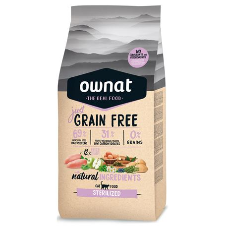 OWNAT Grain Free Just STERILIZED - 8kg