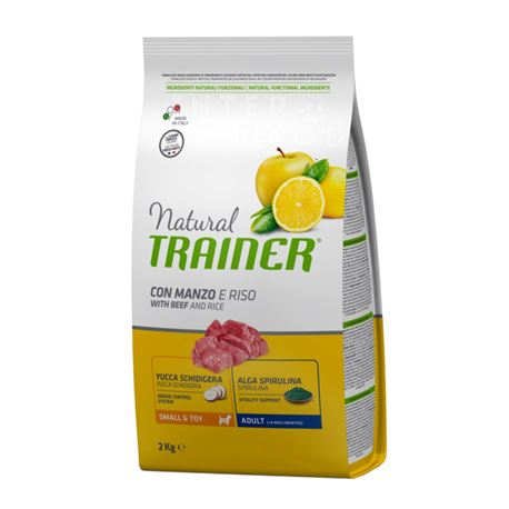 Natural TRAINER Small & Toy Adult con manzo fresco - 2kg
