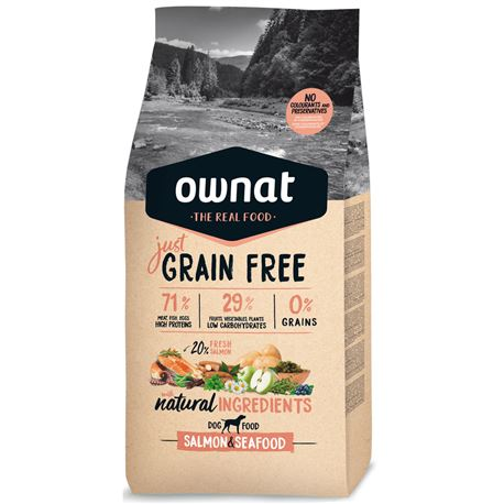 OWNAT Grain Free Just Adult Salmon & Seafood - 14kg