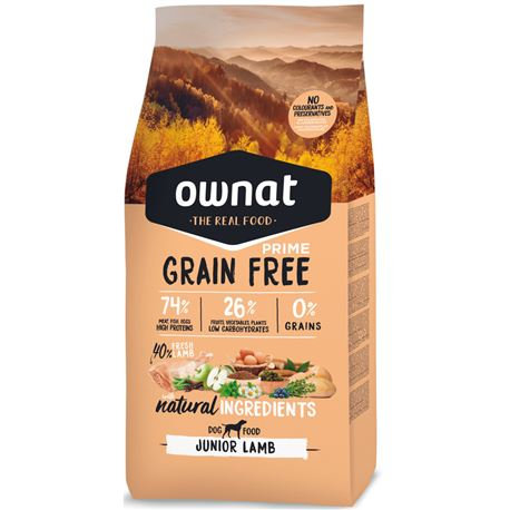 OWNAT Grain Free Prime Junior Lamb - 3kg