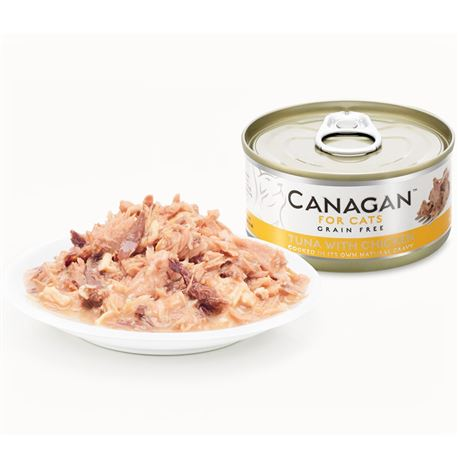 CANAGAN Tuna With Chicken  12x75g 2
