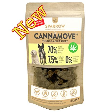 SPARROW Pet CANNAMOVE - Snack di pollo con CBD - 150g