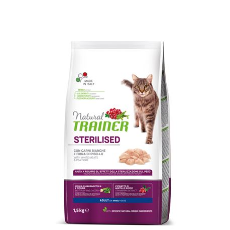 Natural TRAINER Sterilised Adult con Carni Bianche - 1,5kg 1