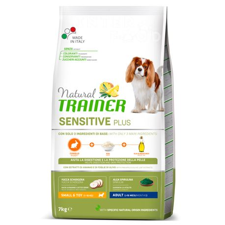 Natural TRAINER Sensitive Plus Small&Toy Adult Coniglio - 7kg