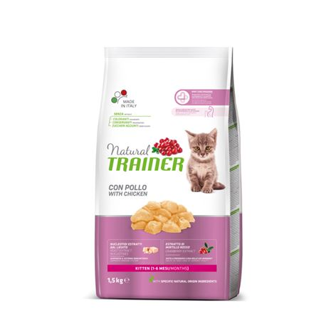 Natural TRAINER Kitten con Pollo - 1.5kg 1