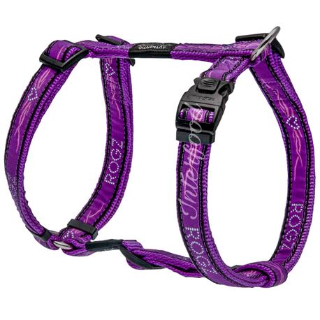 Rogz Harness Armed Response Purple Chrome XL