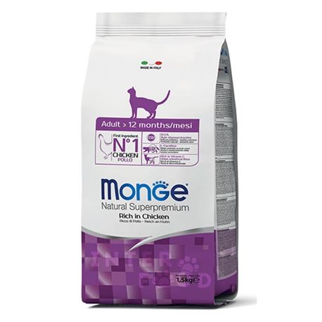 Monge Natural Superpremium Daily Line Hairball ricco di pollo - 1,5kg