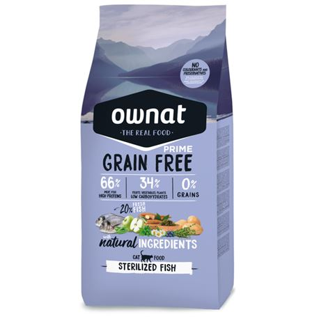 OWNAT Grain Free Prime Sterilized Fish - 3kg 1