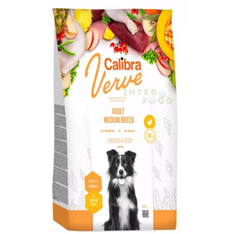 Calibra Dog Verve GF Adult Medium Pollo e Anatra - 12kg