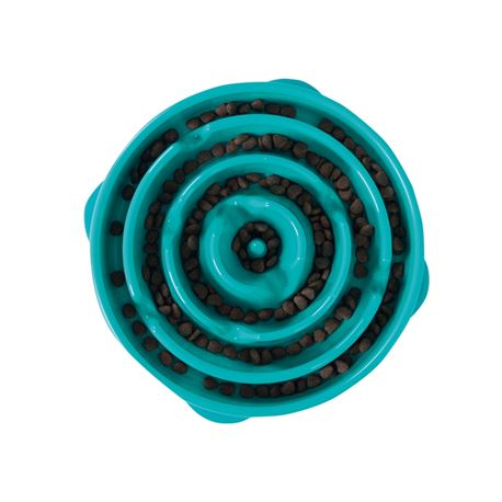 Outward Hound Mini Teal - ciotola anti ingozzamento