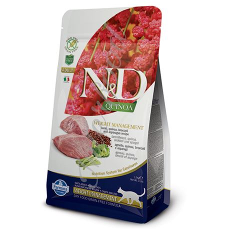 FARMINA N&D QUINOA FELINE - WEIGHT MANAGEMENT LAMB - 1,5kg