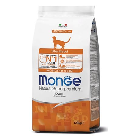Monge Natural Monoprotein Sterilised - Anatra - 1,5kg