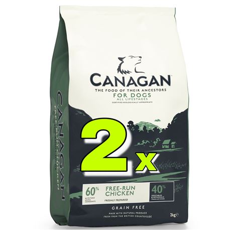 CANAGAN Free-Run Chicken - 2 x 12kg +  2 x lattine + 1 biscotti