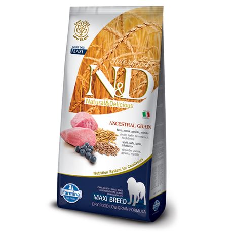 FARMINA N&D Low Ancestral Grain - LAMB & BLUEBERRY ADULT Maxi - 12kg