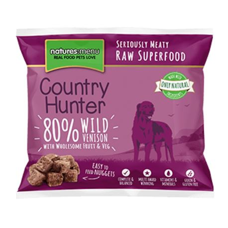 Country Hunter Raw Superfood Nuggets Wild Venison 1kg 2