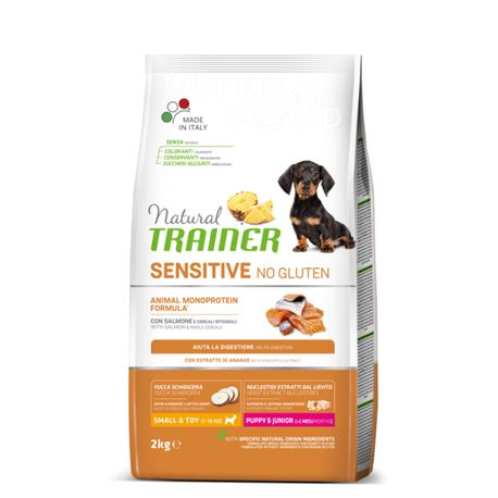 Natural TRAINER Sensitive No Gluten Mini Puppy&Junior Salmone - 2kg