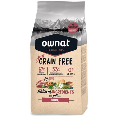OWNAT Grain Free Just Adult Duck - 14kg