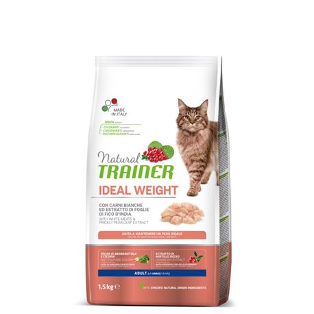 Natural TRAINER Ideal Weight Adult con Carni Bianche - 1,5kg 1