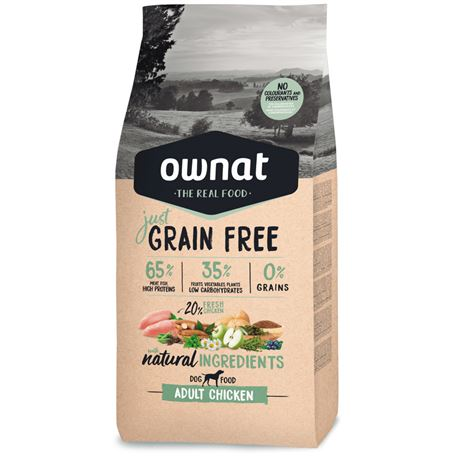 OWNAT Grain Free Just Adult Chicken - 14kg