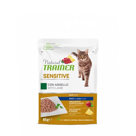 Natural TRAINER Sensitive Adult con agnello - Bocconcini in salsa - 85g