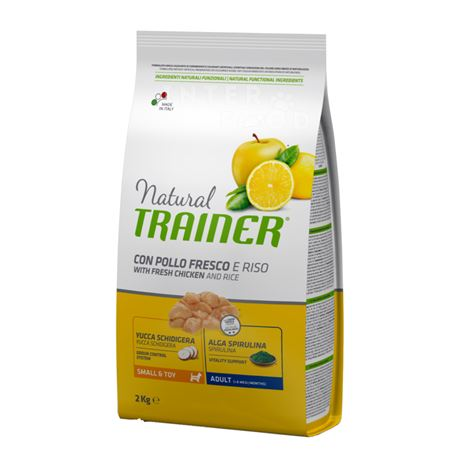 Natural TRAINER Small & Toy Adult con pollo fresco - 2kg 1