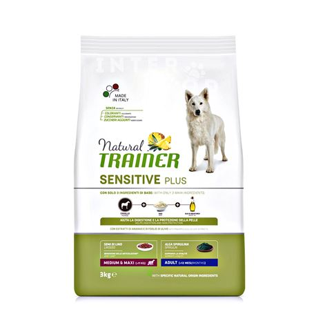 Natural TRAINER Sensitive Plus Adult Medium Maxi con Cavallo - 3kg