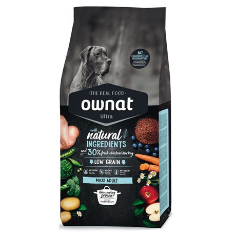 OWNAT Ultra Low Grain Adult Maxi Chicken & Turckey - 14kg