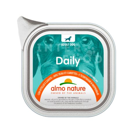 ALMO NATURE Dailymenu con Vitello e Carote - 100g