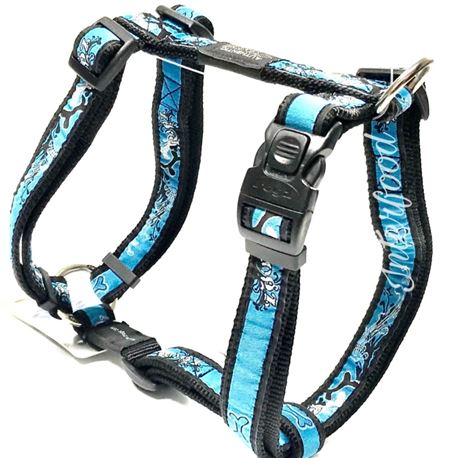 Rogz Harness Armed Response Turquoise Chrome XL
