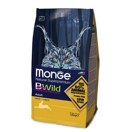 Monge BWild Low Grain Adult Lepre - 1,5kg