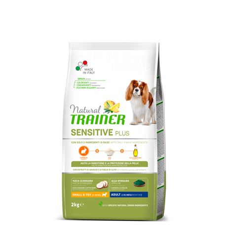Natural TRAINER Sensitive Plus Small&Toy Adult Coniglio - 2kg