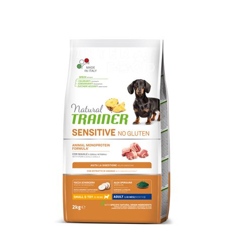 Natural TRAINER Sensitive No Gluten Mini Adult Maiale - 2kg