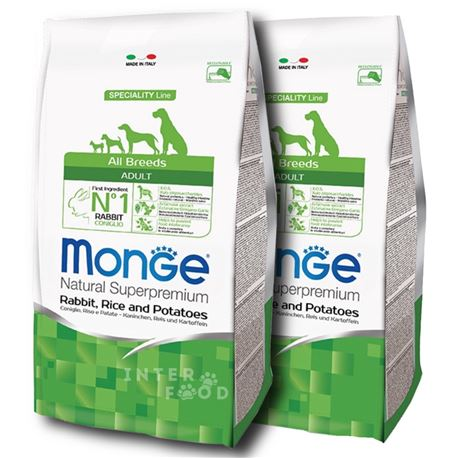 Monge SL All Breeds Coniglio, Riso e Patate - 2 x 12kg