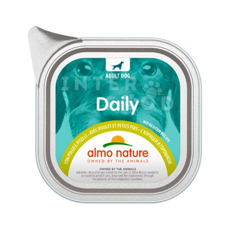 ALMO NATURE Daily No Gluten Recipe con Pollo e Piselli - 300g